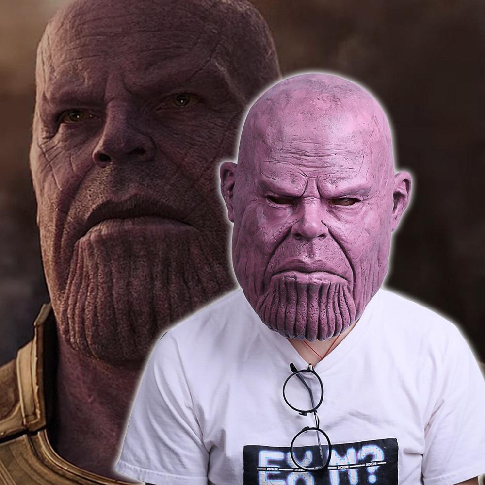Naujoji 2018 m. Kankina Nekilnojamasis karas Thanos kaukė Cosplay - Karnavaliniai kostiumai - Nuotrauka 1