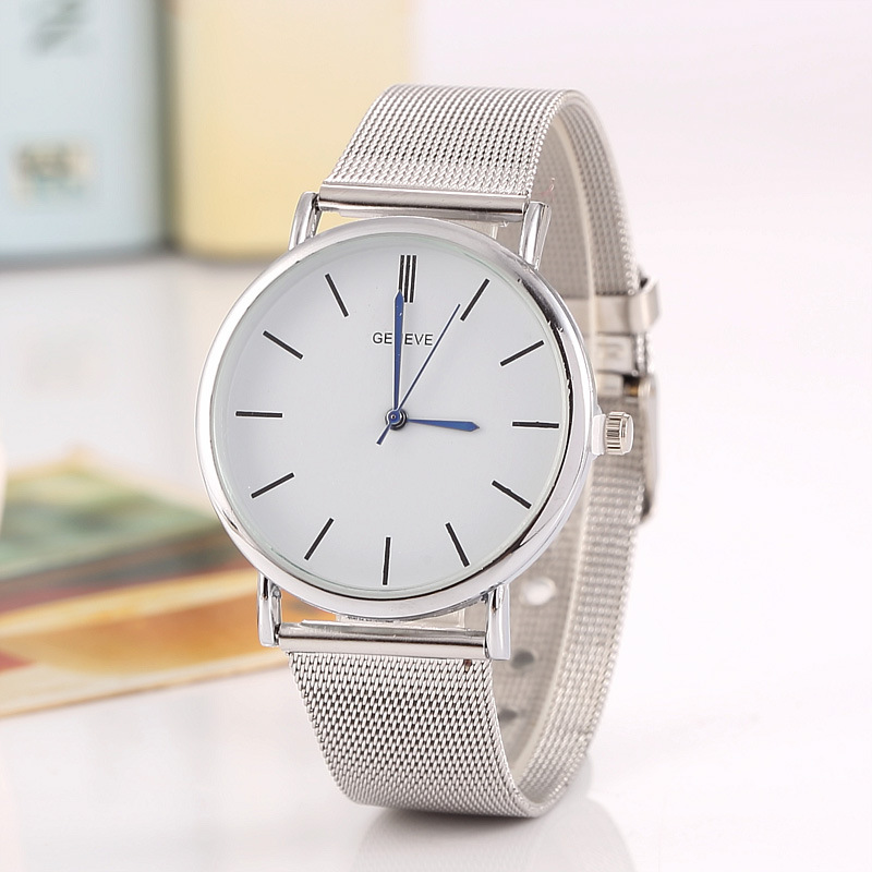 2017 New Luxury Brand Top Quality Casual BGG Quartz Watch Women Metal Mesh Stainless Steel Dress Watch Relogio Feminino Clock bgg brand creative two turntables dial women men watch stainless mesh boy girl casual quartz watch students watch relogio