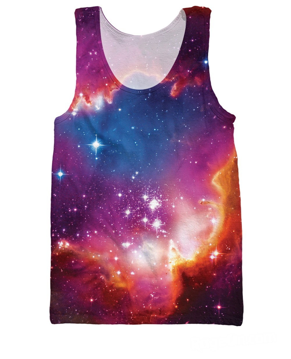 RuiYi free shipping tees jersey Cosmic Forces Tank Top galaxy Stars fashion clothing summer style sexy vest tanks for wome