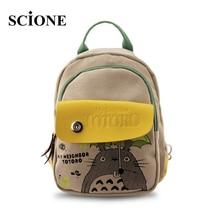 Hot Anime My Neighbor Totoro Canvas Cartoon Printing Backpacks Fashion Natsume Yuujinchou Small Girls Shoulder Schoolbags 465t