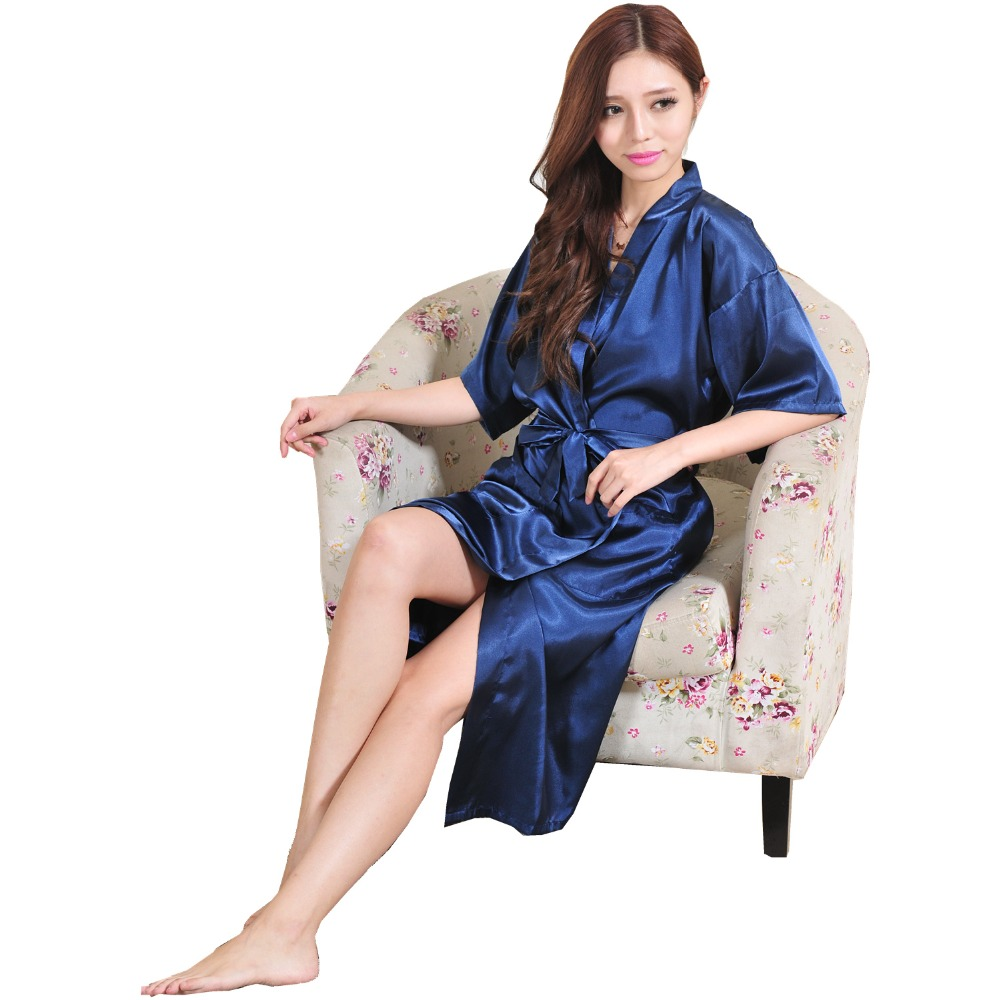 76d71e17a5 Plus Size Long Mother Of The Bride Robe Badjas Soft Satin Dressing Gown  Bronzing Word Bridal Robes Peignoir Femme