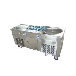 Duży pan tajski lody maszyna do walcowania  smażyć lody maszyna rolki z R410a czynnika chłodniczego