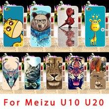 Мягкие TPU Телефонные Чехлы для Meizu meilan U10 U680H Meizu U10 U20 Meizu U20 чехол Красочные Животные смартфон крышка корпуса оболочка