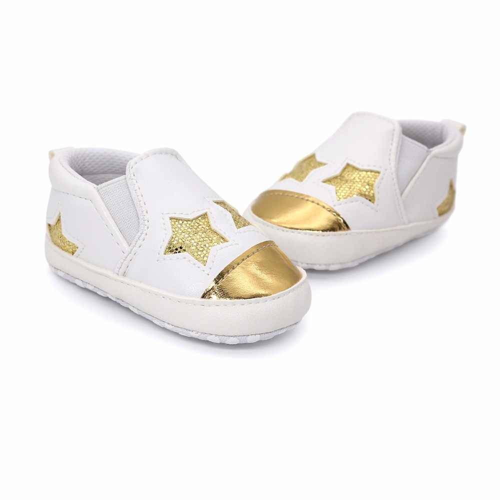 ... New Fashion Star Baby shoes Newborn Boys Girls First Walkers Infant  Toddler Soft Bottom Anti- 7c50b9914790