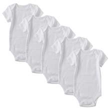 5 Pack Newborn Bodysuit Babies Clothes Baby Girls Short Sleeve One Piece 0-12 Months White Baby Boys Bodysuits bangladesh baby country series white blue or pink baby one piece bodysuit
