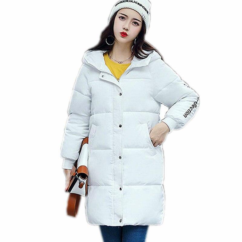 긴 겨울 자 켓 2017 여성 코트 캐주얼 따뜻한 긴 소매 두꺼운 가을 파 카 outwear 여성 coatsladies 기본 코트 feminina-에서파카부터 여성 의류 의  그룹 1