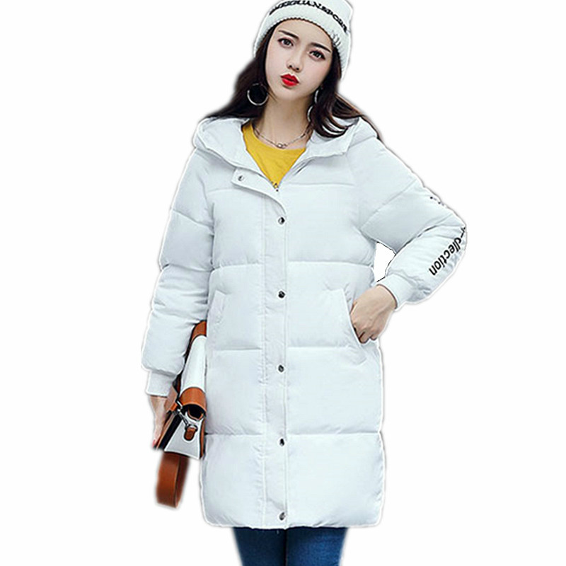 Long Winter Jackets 2017 Women Coats Casual Warm Long Sleeve Thick Autumn   Parkas   Outwear Women Coatsladies Basic Coat Feminina