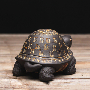 Image 4 - Creative purple clay tea Pet Tortoise yixing zisha teapot lid holder for teatray teaboard tearoom Decoration Handcrafts