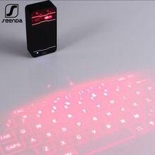 Беспроводная лазерная мини клавиатура seenda портативная bluetooth