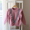 2017 spring and autumn new children girls lace sweater knitted sweater children fashion cute sweater