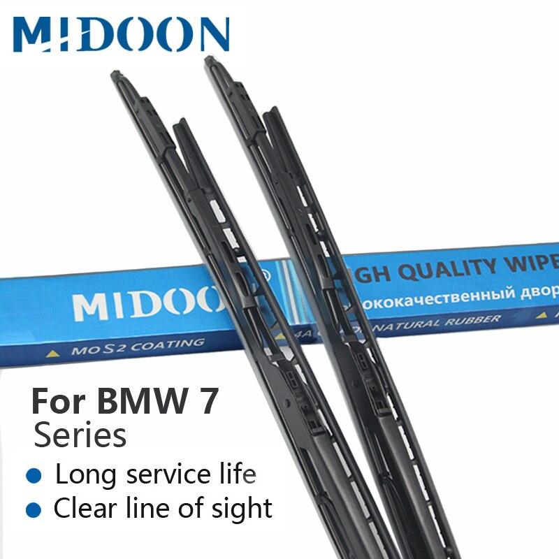 MIDOON Lames D'essuie-Glace pour BMW 7 Série E65 E66 E67 E68 F01 F02 F03 F04 730i 735i 740i 745i 750i 760i 730d 740d 745d 730i/Li