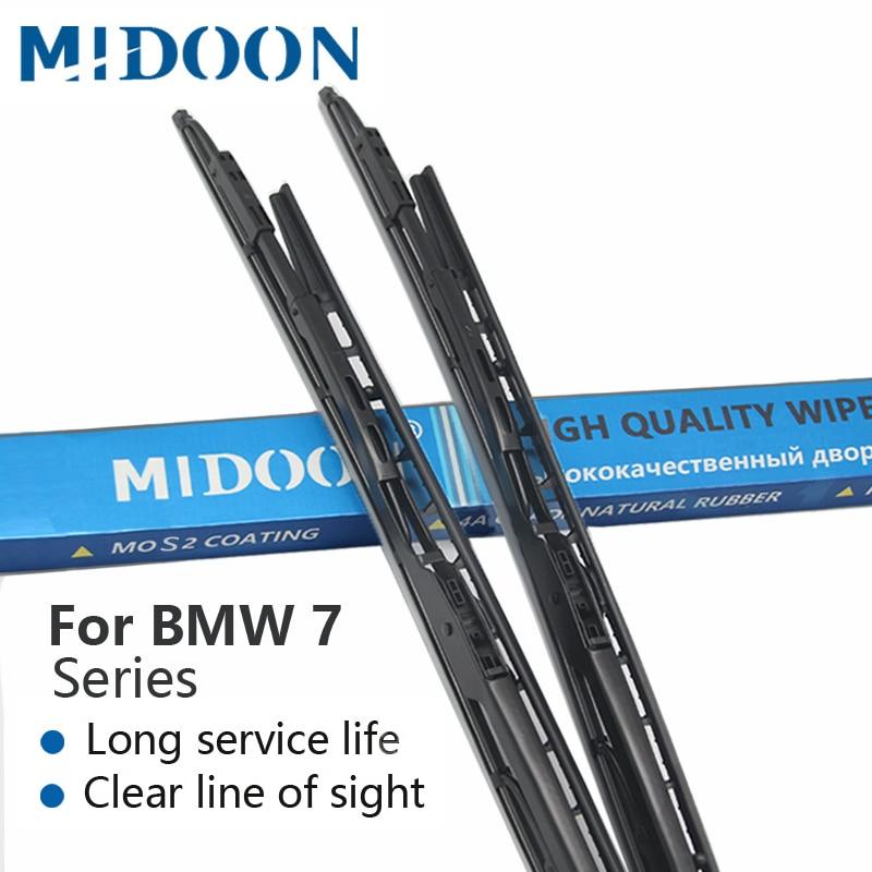 MIDOON дворники щетки стеклоочистителя для BMW 7 серии E65 E66 E67 E68 F01 F02 F03 F04 730i 735i 740i 745i 750i 760i 730d 740d 745d 730i/Li