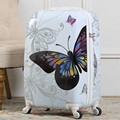 "20""24""Inches Fashion ABS+PC Pretty butterfly luggage Suitcase Spinner Wheels Luggage Women And Girls Boarding Box Trolley Travel"