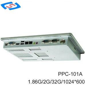 Image 2 - ファンレス 10.1 インチ産業用タッチスクリーンパネル Pc 2 xLAN 2 × 10/100/1000 Mbps RJ45 RTL8111E 2xUSB2 。 0 2 xCOM RS232