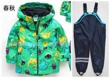Germany  brand children's raincoat rain pants overalls windproof waterproof rain suit for children free shipping