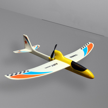 b16126aa39 Modelo divertido planeador eléctrico racionalizar DIY juguete condensador  niños RC avión regalo educativo mano de espuma a