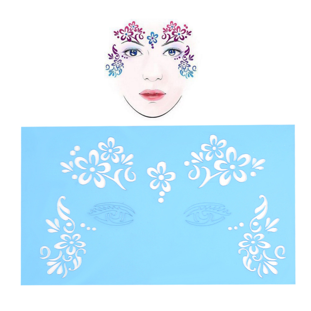 brand new reusable facial paint stencils unique 7styles/set facial paint stencil in body paint face painting template butterflybrand new reusable facial paint stencils unique 7styles/set facial paint stencil in body paint face painting template butterfly
