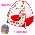 50pcs Balls+Outdoor/Indoor Baby Playpens For Children's Foldable Kids Ball Pool Game Activity&Gear Toy Fencing Basket Corralito