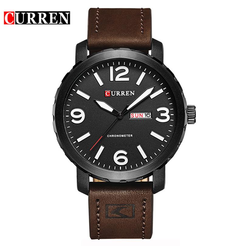 Curren Sports Watch Men 2017 Mens Watches Top Brand Luxury Relogio Masculino Quartz Watch Leather Strap Band Wristwatch 8273 hongc watch men quartz mens watches top brand luxury casual sports wristwatch leather strap male clock men relogio masculino