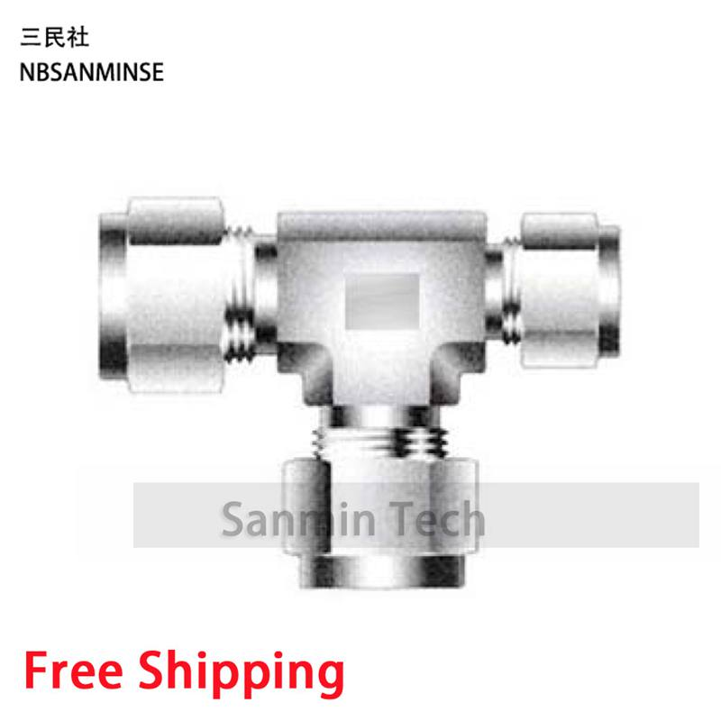 5Pcs/Lot RUBT 1/8 1/4 3/8 1/2 3/4 1 Union Tee Stainless Steel SS316L Plumbing Fitting Pneumatic Air Fitting High Quality Sanmin 5pcs lot sspmm stainless steel anticorrosion food grade quick connect air tube accessories bulkhead union fitting sanmin