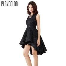 PLAYCOLOR Black Lace Short font b Cocktail b font font b Dresses b font for Prom