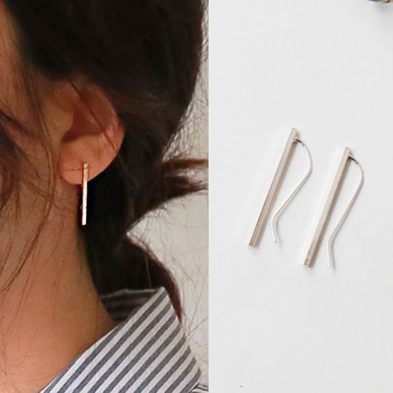 925 Sterling Silver Manual Long Line Earrings For Women Fashion Jewelry sterling silver jewelry pendientes in Drop Earrings from Jewelry Accessories
