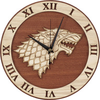 Meijswxj Silent Wall Clock Office Dining Room Living Room Bedroom Wolf Head Wall Clock Creative Home Furnishing Decoration