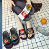 Summer Women Slides Women Shoes Slippers Cute Pixel Lovers Bathe Sandals Slip On Flip Flops Beach Slippers Zapatillas Mujer