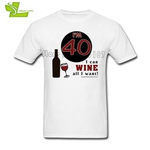40th Birthday Wine Man T Shirt Cool Classic Loose Tops Boy Summer Round Neck Tshirts Guys