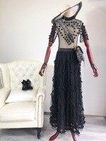 2019 новые сетчатые плетеные шарики платья с вышивкой 1 цвет 3 размера Женская одежда