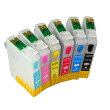 T0801 - T0806 Refillable Ink Cartridge For Epson Stylus P50 R265 PX650 PX700 PX800 PX710 PX720 PX810 PX820 R360 RX560