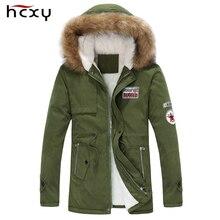 2016 новое прибытие мужская толщиной теплая зима вниз пальто меховой воротник army green мужчины куртка большой ярдов длинный хлопок пальто куртки куртка мужчины