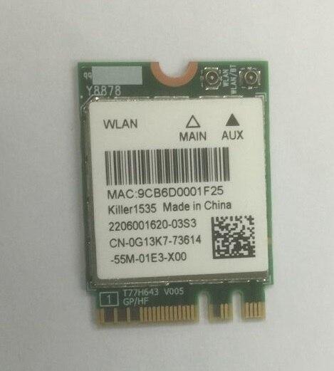 SSEA nouvelle carte sans fil pour tueur sans fil-AC 1535 NGFF M.2 wifi Bluetooth 4.1 sans fil Wlan 802.11ac/a/g/n 867 Mbps