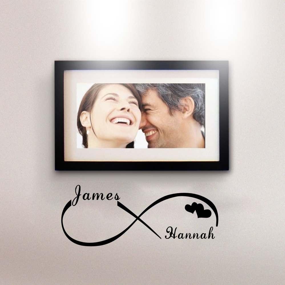 Custom Personalized Couple Name Creative Infinity Symbol Wall Stickers Vinyl Decals Art for BedRoom Decoration