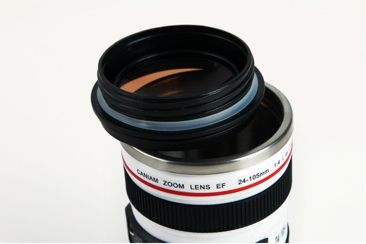Camera lens SIX generation of creative emulation mug with lid