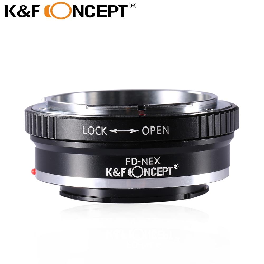 K&F CONCEPT FD-NEX Lens Mount Adapter Ring for Canon FD FL Lens to Sony Alpha NEX E-Mount Camera Body NEX-7 NEX-6 NEX-5N NEX-5 k&f concept for minolta af nex camera lens mount adapter ring for minolta af lens to sony nex e mount for nex 3c nex 5n nex 6