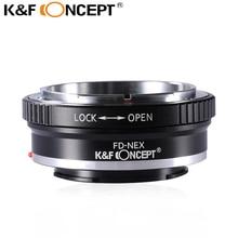 K&F CONCEPT FD-NEX Lens Mount Adapter Ring for Canon FD FL Lens to Sony Alpha NEX E-Mount Camera Body NEX-7 NEX-6 NEX-5N NEX-5