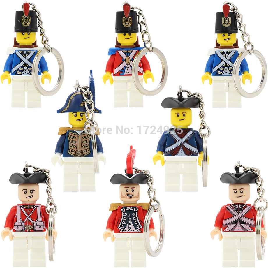 Navy Loyal keychain Single sale Imperial Guard Soldier Figure Key Ring Building Blocks Brick Educational Caribbean Pirate toys