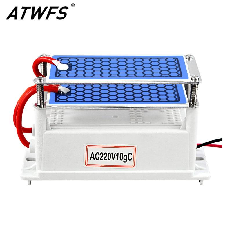 ATWFS Air Purifier for home Ozone Generator 220v 110v 10g Ozonizador Fresh Air Cleaner Ozonizer Odor