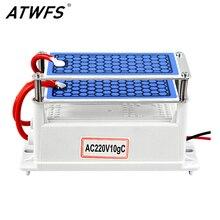 ATWFS очиститель воздуха для дома генератор озона 220 В в В/110 в 10 г Ozonizador свежий очиститель воздуха озонатор Запах Eliminator стерилизации