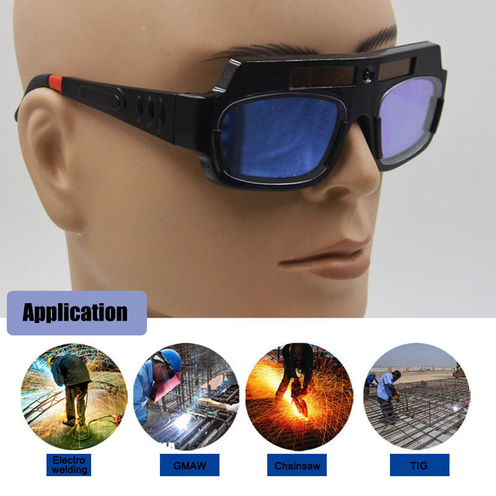 Solar Powered Safety Goggles Auto Darkening Welding Eyewear Eyes Protection Welder Glasses Mask Helmet Arc  LCC77