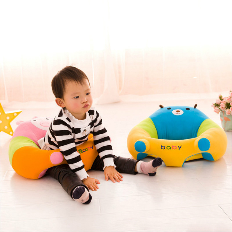 Baby Chair Sofa Portable Infant Learn Sit Chair Support Seat Baby Cartoon Plush Sofa With PP Cotton Filling Safety Child Care