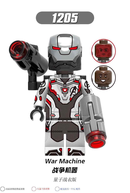 Figuras de máquina de guerra Iron Man Mark 50 Iron Man Avengers Mark 35 Pepper Dios Killer modelo de armadura bloques de construcción conjunto de bloques de juguete
