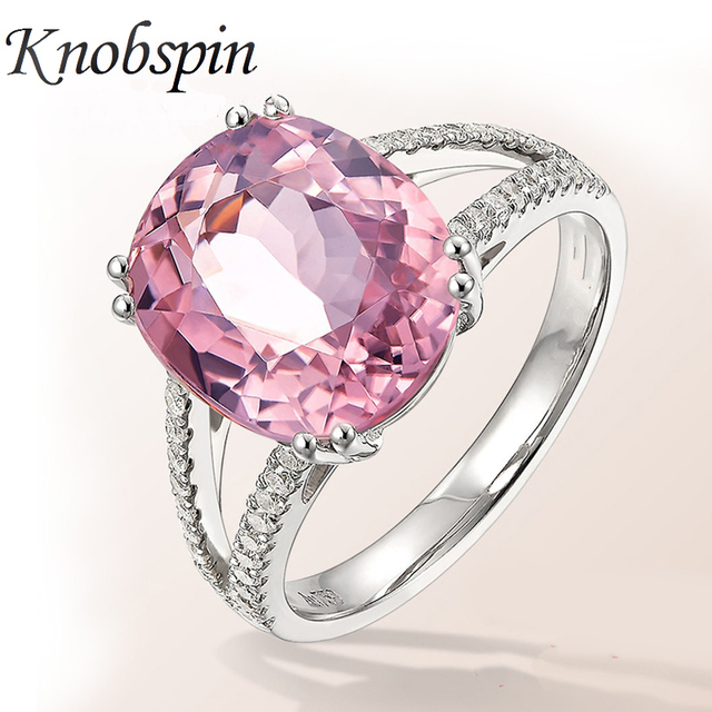 2018 New Arrival European Fashion Pink Zircon Crystal Women Ring Luxury Engageme