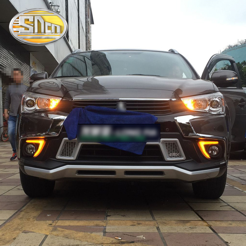 SNCN 2PCS LED Daytime Running Light For Mitsubishi ASX 2016 2017 2018 Car Accessories Waterproof ABS