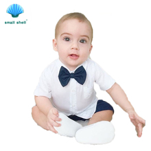 SMALL SHELL toddler children summer baby boys clothing sets gentleman clothes suits kids sweatshirt child shirt 1-5Y 17020