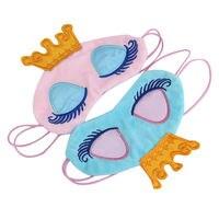 1 pcs Lovely Crown Eyeshade Eye Cover Sleeping Mask Travel Cartoon Long Eyelashes Blindfold Gift Women Girls Cotton Blends Face Mask & Treatments