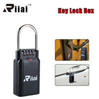 Riiai 4 Digit Password Lock Key Safe Vault Combination Lock Box Car door Handle Capacity Metal Twist Lock Candados De Seguridad