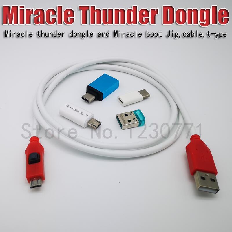 Последняя чудо Thunder ключ и чудо-Miracle boot Jig и кабель Тип-C