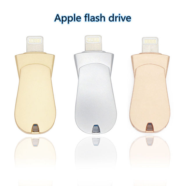USB FLASH DRIVE LUXURY METAL FLASH DRIVE for iphone 6S 7plus apple IOS Pen Drive 16g 32g 64g Pendrive 2 in 1 memory stick